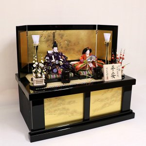 【千匠】雛人形 京都西陣織衣裳着 収納親王飾り 「平安」|ishizaki|07