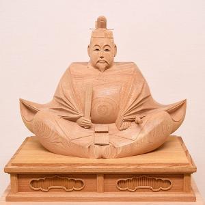 【天神様 木彫り】井波彫刻 1尺5寸 高桑 章 作 <日展会友>