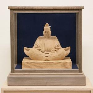 【天神様 木彫り】井波彫刻 6寸(神代ケース入り) 高桑 章 作<日展会友> ishizaki