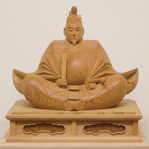 【天神様 木彫り】井波彫刻 1尺4寸 高桑 章 作<日展会友> ishizaki