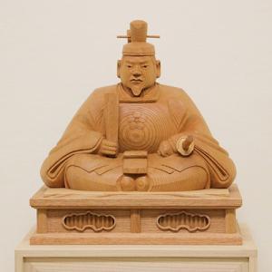 【天神様 木彫り】井波彫刻 1尺1寸 大沢 秀樹 作 <一級井波木彫刻士> ishizaki