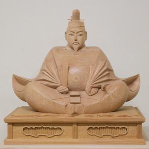 【天神様 木彫り】井波彫刻 1尺5寸 欅 高桑 章 作<日展会友>