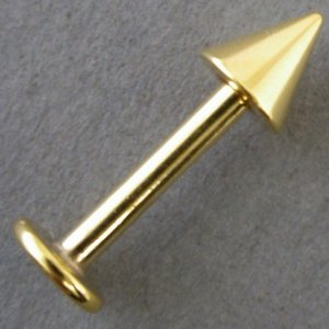 (メール便送料無料)スパイク ラブレット ゴールド 14G 15mm|isis-jennie