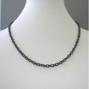 ネックレス ステンレス 鎖チェーン ブラック 60cm(メール便送料無料)|isis-jennie
