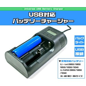 USB対応 バッテリーチャージャー 充電器|isis-jennie