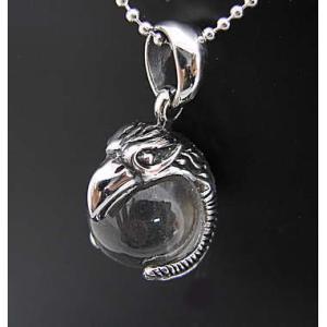 (メール便送料無料)シルバー925 水晶を抱えたワシの ペンダント|isis-jennie