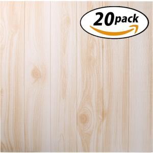 ISL ウォールステッカー ナチュラルウッド 木目調 70x77cm 3Dクッション壁紙 20枚セッ...