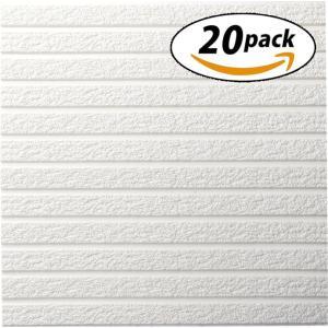 ISL ウォールステッカー ウォールストーン調 60cm×60cm 3Dクッション壁紙 20枚セット