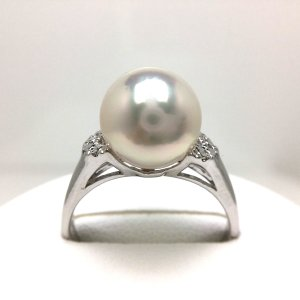真珠 リング パール アコヤ真珠 真珠リング パールリング 9.0-9.5mm シルバー 46323
