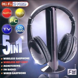 ■送料無料■ワイヤレスヘッドホン5in1■高音質、ノイズカッ...