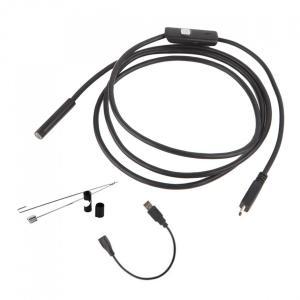 ■送料200円■マイクロスコープ 内視鏡 6LED USB接続 エンドスコープ 7mm 2mケーズル android アンドロイドスマホ 対応 防水 LED ライト