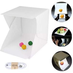 送料無料 撮影ボックス 折りたたみ式 LED照明付 20灯 写真撮影用テントボックス 簡易組立 撮影ブース 撮影キット 撮影セット 撮影スタジオ バックスクリーン|isozaki-store