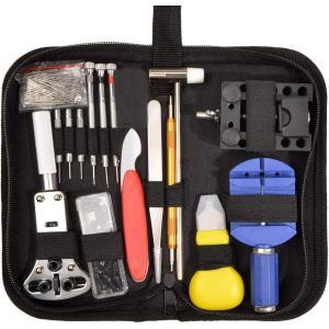送料無料 腕時計 工具セット 147点 時計修理 腕時計修理工具セット 電池交換 ベルト調整 精密ドライバー 裏蓋開け 交換ピン バネ棒外し|isozaki-store