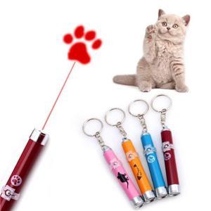 送料無料 ペット用 LED ライト ポインター  猫 おもちゃ ねこじゃらし ネコちゃんの運動不足解消に ネズミ/足跡/魚 模様|isozaki-store
