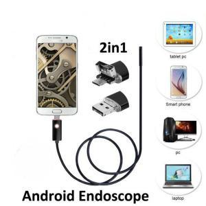 ■送料無料■マイクロスコープ 内視鏡 6LED USB接続 エンドスコープ 7mm 1m ケーズル android アンドロイドスマホ 対応 防水