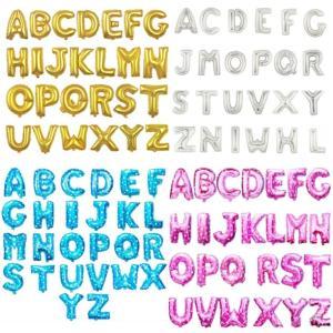 送料無料 誕生日 バルーン アルファベット 文字 名前 40cm ゴールド シルバー ピンク ブルー 星 ハート スター 風船 プレゼント