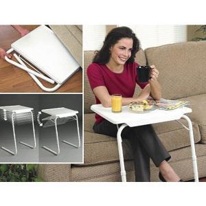 折りたたみテーブル サイドテーブル 軽い 安い 小さい 高さ調整 角度調節 パソコン ベッド デスク 収納 昇降 ホワイト 作業台 介護用品 ミニテーブル|isozaki-store