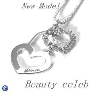 輝きが違う 高級CZダイヤモンドネックレス 刻印ハートプラチナ仕上げでさびない プレゼント 記念日 isozaki-store