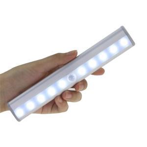 送料200円 10LED  人感センサー ライト 光センサー クローゼット 階段 廊下 夜間 電池式 自動点灯 10灯で明るい 工事不要|isozaki-store