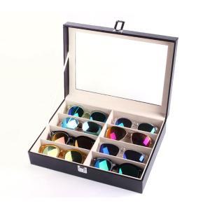 送料無料 メガネ サングラス 収納ボックス 8個 8本 収納 コレクション ケース 収納ケース 展示 ディスプレイ レザー風 おしゃれ|isozaki-store