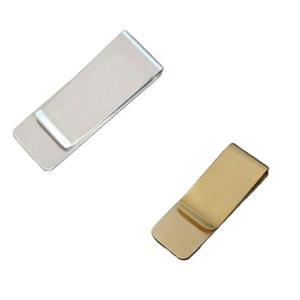 送料無料 マネークリップ 紙幣クリップ 財布 カード 現金ホルダー シルバー ゴールド|isozaki-store