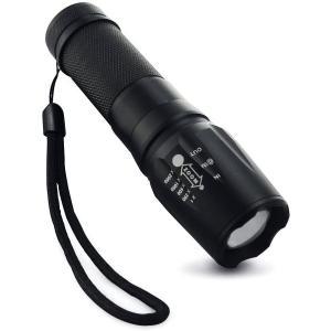 懐中電灯 led 強力 XM-L T6 ハンディライト  防水 1800ルーメン CREE社製 ズームXML LEDライト 超高輝度LED 防犯 電池式  アウトドア 防災 明るい|isozaki-store