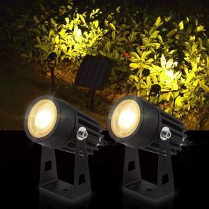 送料590円 ソーラー LED 2灯セット ライト アウトドア スポットライト 屋外 太陽光 ガーデンライト 防犯 防水 1 光センサー 自動点灯