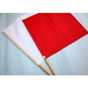 手旗 赤白セット 1組|isp|05