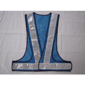 反射ベスト V60 青・白 ¥1800|isp