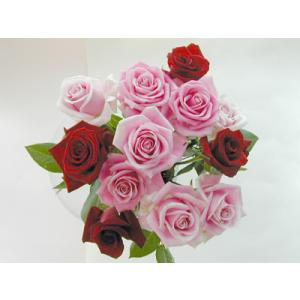 バラ 花束 12本 赤4本 ピンク8本(本体価格4,200円)|ispecial