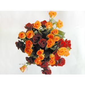 バラの花束40本 赤20本オレンジ20本(本体価格10,000円)|ispecial