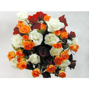 バラの花束 50本 赤20本オレンジ20本白10本(本体価格12,500円)|ispecial