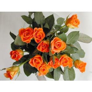 バラ 花束 12本 オレンジ色のバラ(本体価格4,200円)|ispecial