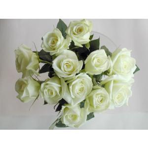 バラ 花束12本 白バラ(本体価格4,200円)|ispecial