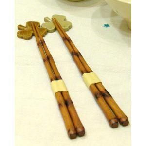 手彫り江戸箸/桜の節焼箸 2組|ispecial
