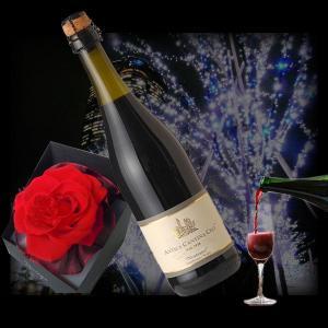 赤バラコサージュとスパークリングワイン/ランブルスコ (本体価格5,250円)|ispecial