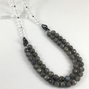 天然石 ラブラドライトと水晶のネックレス(本体価格:9,500円) ispecial