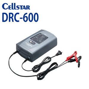 700817 CELLSTAR(セルスター) バッテリー充電器 DRC-600 ドクターチャージャー (DC12V専用 2.3Ah〜90Ah対応)|isplaza-0411