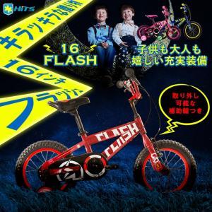 子供用 自転車 16インチ 安全性重視 補助輪付き キラキラ isshoudou
