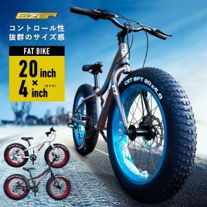 ファットバイク 20インチ 極太タイヤ 太いタイヤ シマノ マットブラック Wディスクブレーキ 自転車本体 アイゼル VELOTON|isshoudou