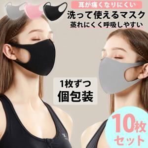 マスク スポンジマスク 洗える 10枚セット 個包装 個別包装 ウレタンマスク スポンジ やわらか 手洗い 呼吸のしやすい 花粉 isshoudou