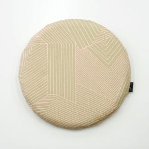 低反発円形シートクッション RASEN ベージュ 日本製 北欧 おしゃれ 低反発 クッション|issoecco