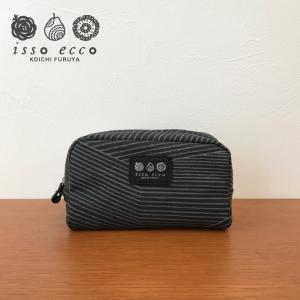 コスメポーチ RASEN ブラック 日本製 北欧風 コスメ ギフト|issoecco