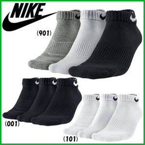 《簡易配送可》NIKE ナイキ 3P コットン クッション ローカット ソックス +モイスチャー マネジメント SX4701 靴下