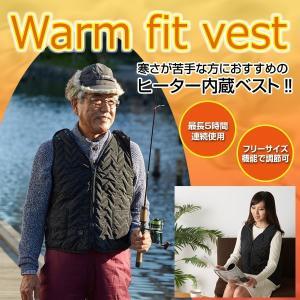 ヒーター内蔵ベスト「Warm Fit Vest」 WAF-01 防寒着 フリーサイズ 送料無料 当日出荷/即日発送|istheme