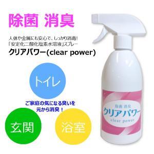 【除菌・消臭】安定化二酸化塩素水「Clear Power」スプレー ★トイレ、玄関、浴室など ★高い安全性&環境性|istheme