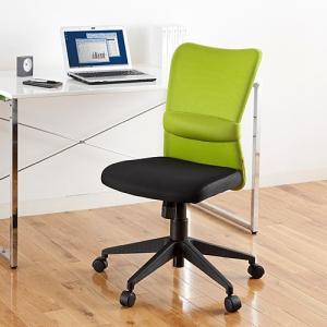 オフィスチェア オールメッシュチェア ミドルバック ロッキング ランバーサポート グリーン