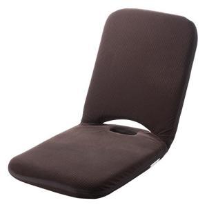 座椅子 リクライニング 折りたたみ こたつ マイクロファイバー素材 14段階調整 持ち手付き ブラウ...