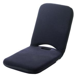 座椅子 リクライニング 折りたたみ こたつ マイクロファイバー素材 14段階調整 持ち手付き ネイビ...
