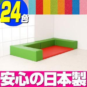 キッズルーム バンビ30cm角セット 1畳プランB/キッズコーナー チャイルドコーナー 積み木 マット 囲い|isuharikoubou